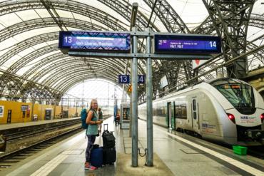 att resa trendigt tåg