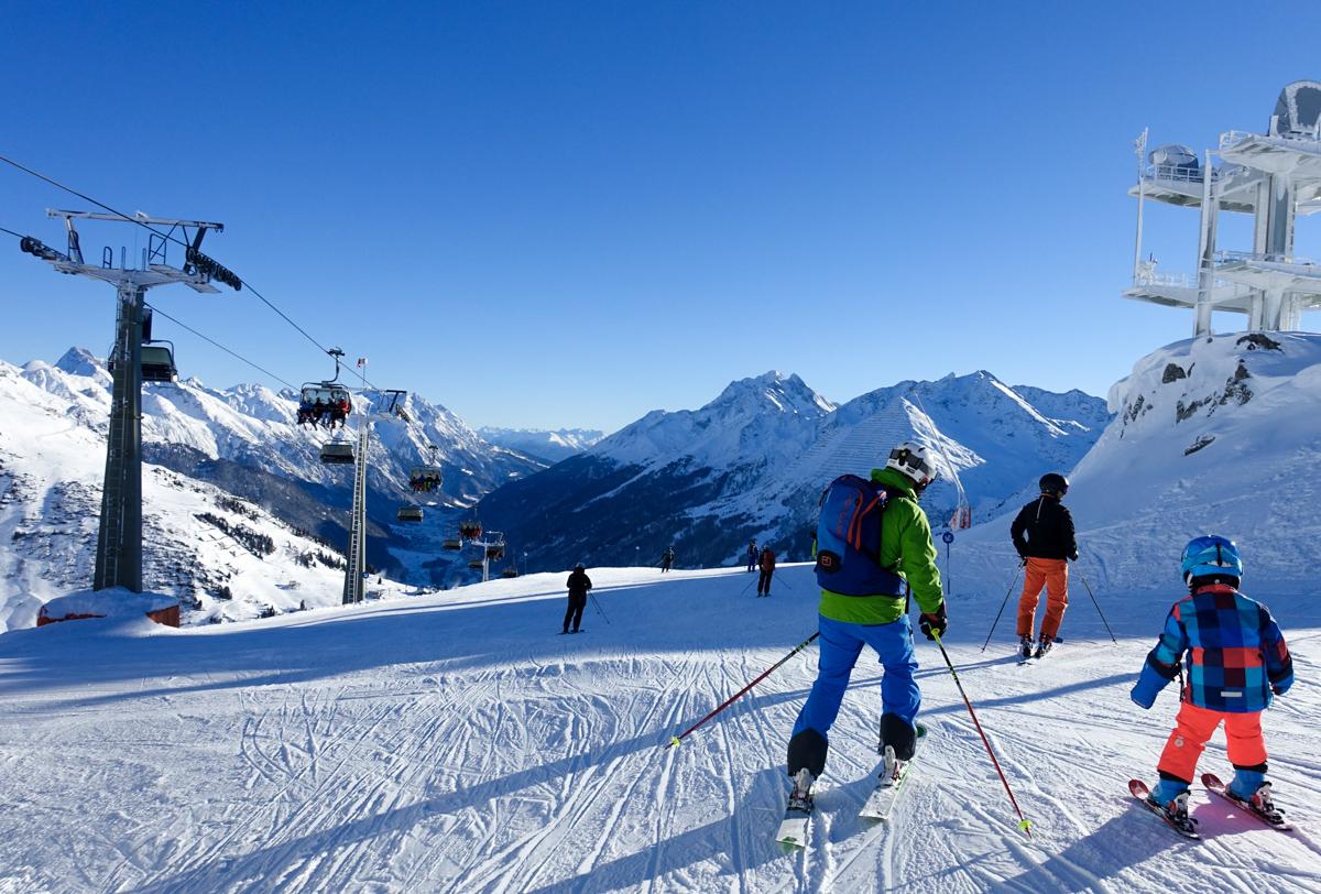 att åka skidor i Österrike
