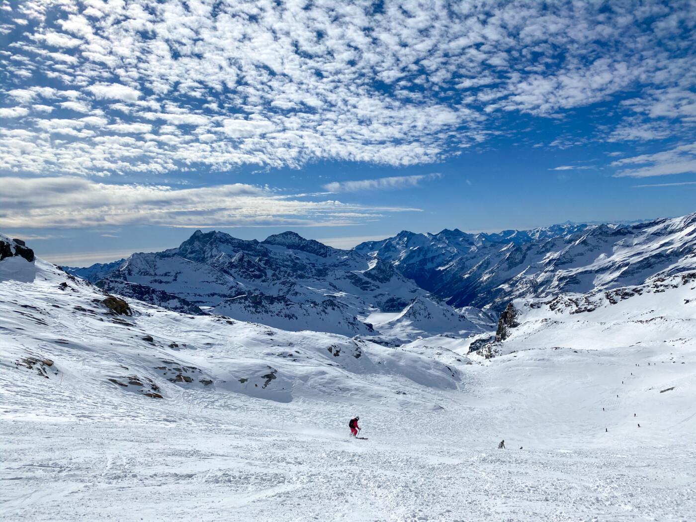 åka skidor i Italien
